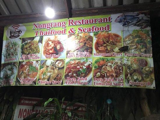 Ban Thong Sala, Thailand: Menu banner