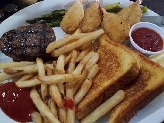 "Severance, CO: ""Dinner Special"" Steak and shrimp"