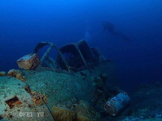 Palau 7th Wonder Dive and Tours: This is one of the shipwreck can be found in Palau .,