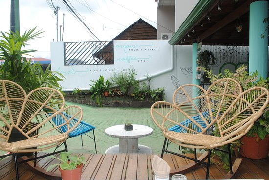 cute chairs and lovely view picture of organico fortuna la rh tripadvisor com ph