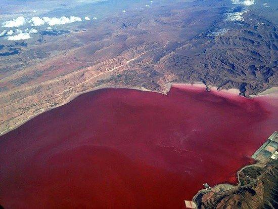 Chabahar, Iran: pink lagoon in sistan & balouchestan province