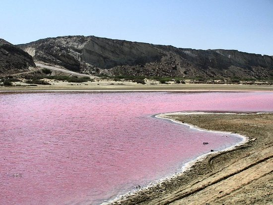 Chabahar, Ιράν: pink lagoon in sistan & balouchestan province