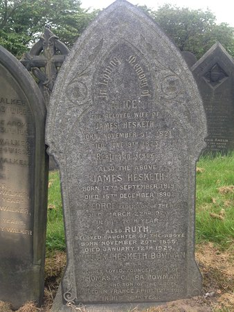 Salford, UK : One of many headstones in Weaste Cemetery