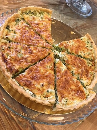 Kfar Blum, Ισραήλ: Quiche with broccoli- I had mine with greek salad which together they were so delicious