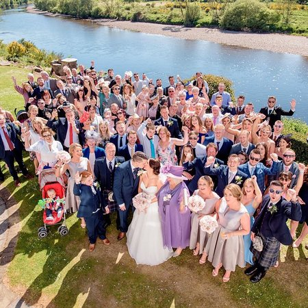 Maryculter, UK: Wedding Picture from Bridal Suite