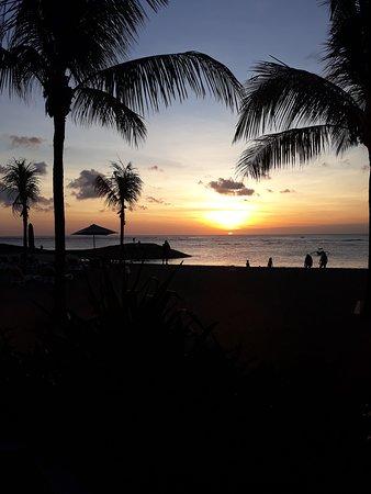 sunset from sands restaurant