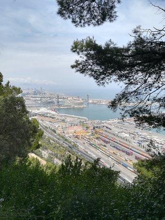Parc de Montjuic: Vue depuis le sentier Cami dell mar