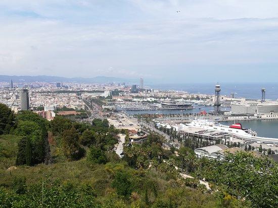 Parc de Montjuic: Vue sur Barcelone