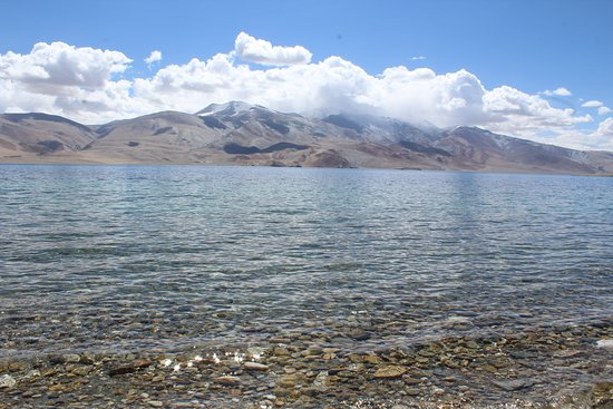 Tso Moriri Lake: The clear water glistening under the sun's rays