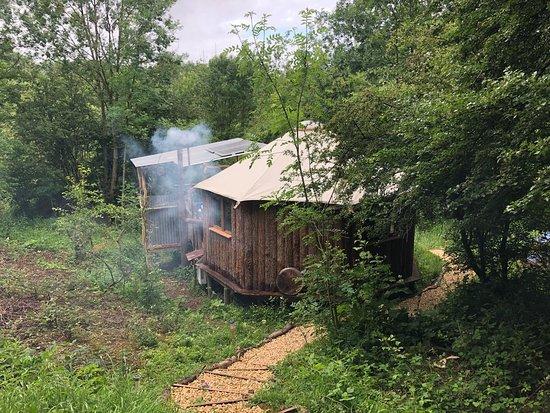 Cabin heaven in the Woods.