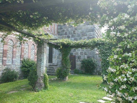 Abbazia di Sant'Andrea: pergolato nel chiostro
