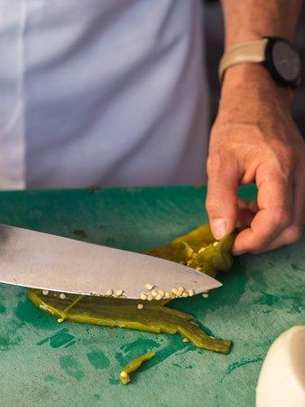 Las Cazuelas del Don : learning how to use poblano chile