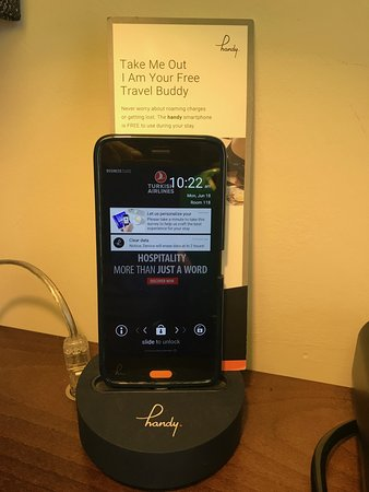 Hotel Indigo London Kensington : Complimentary Phone/Tablet in the room