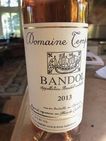 Castellet, Frankreich: Domaine Tempier rose wine label