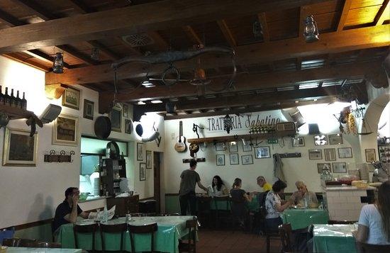 Trattoria Sabatino: το εσωτερικο του εστιατοριου