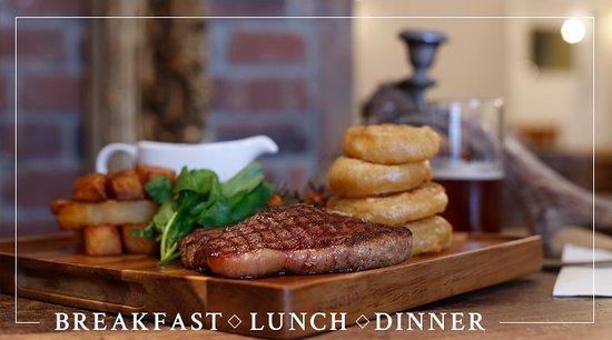 Haytor Vale, UK: Food Served within Tinpickle & Rhum Cafe Brasserie