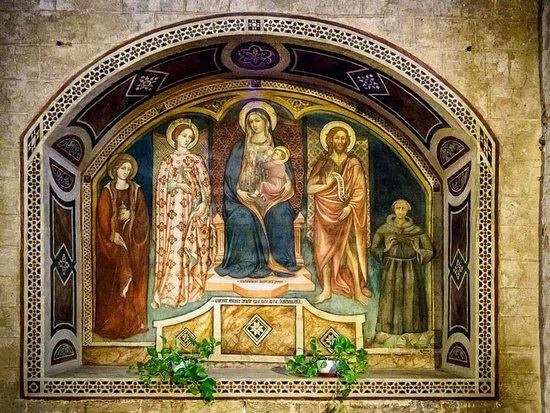Chiesa dei santi Pietro e Andrea: Madonna, Christ and saints.