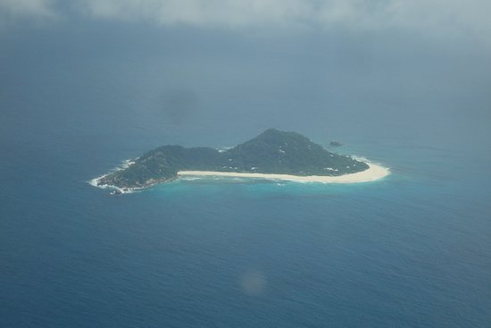 Air Seychelles: Island from the plane window