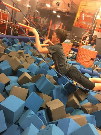 Sky Zone Trampoline Park: The 11 year old had to try it, too!