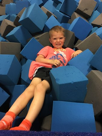 Sky Zone Trampoline Park: You jump off of the trampolines into this foam pit. I tried it, too, and it was fun.