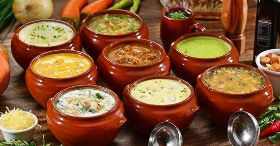 Garam Masala Gastronomia: Buffet de Sopas de Terça à Sábado no Jantar