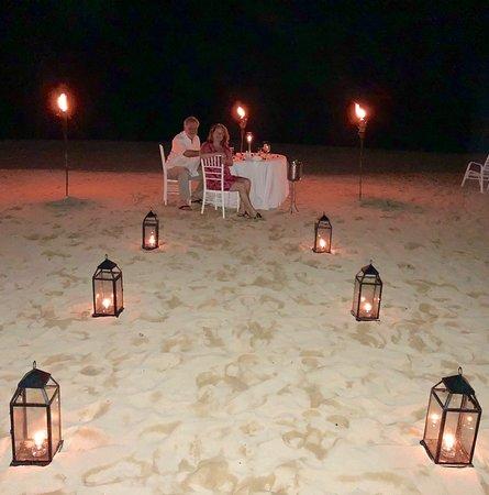 Jamaica Inn: Beach dinner for two