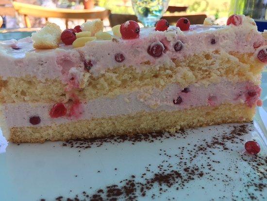 Aschau Im Chiemgau, Germany: Johannisbeer Joghurt Torte - saftig fruchtig !