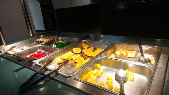 Fruitdessert Bar Running Low On Pineapple But Fresh Picture Of