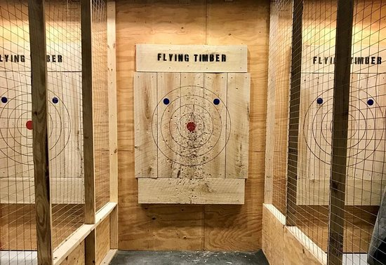 Flying Timber Axe Throwing