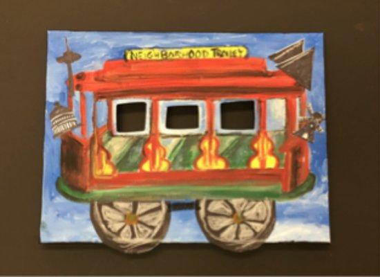 Mister Rogers' themed artwork for kids - Picture of Latrobe