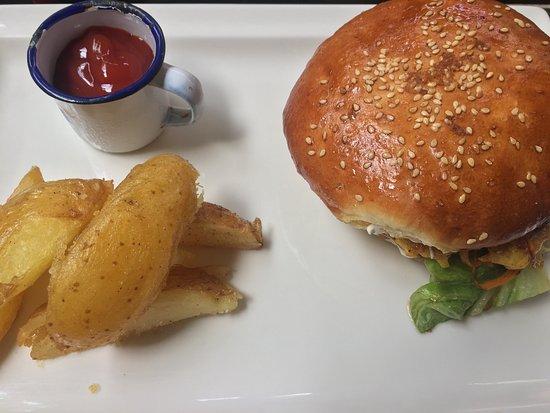 Ki' Bok Cafe Gourment: Hamburgesa de Camarón