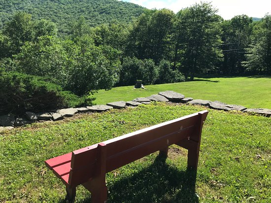 The Alpine Inn: Have a seat and enjoy the grounds and fresh mountain air!