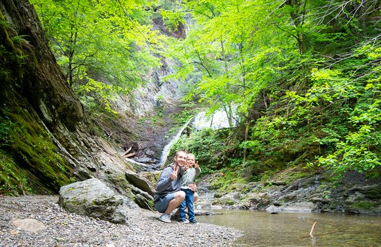 Moss Glen Falls: down by stream