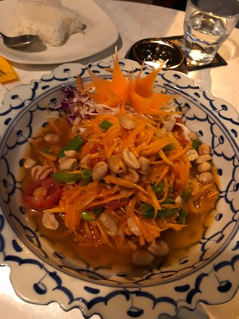 Tongtara Thai Restaurant: Som Tum is always a difficult dish to make in a foreign country, but this restaurant nailed it