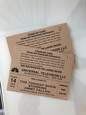 Tickets for the tonight show new york