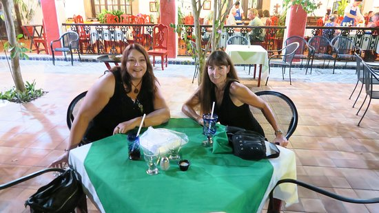 Casa Mission: my friend and I having drinks first