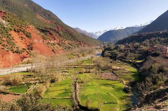 Atlas Mountains with Takerkoust Lake...