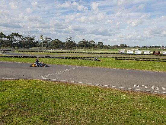 Stony Creek, Australia: View from the platform on the straight