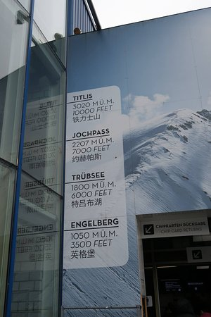 Mount Titlis excursion from Engelberg: 高度表