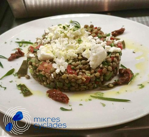Ano Koufonissia, Griechenland: Lentil salad