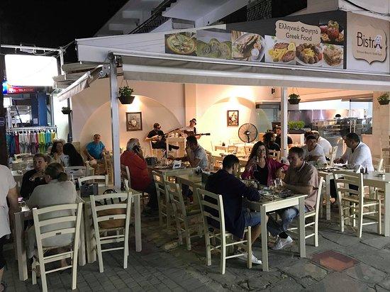 Bistro Greek Food Pefkochori Live Music