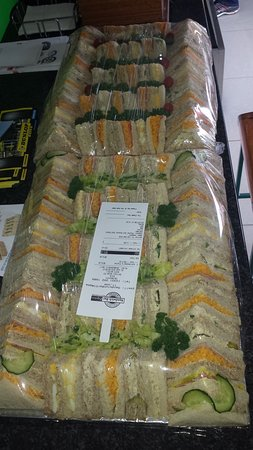 Businessman's Platters ready for free delivery to customers!