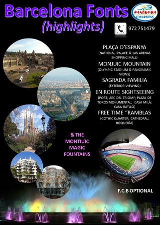 Panorama Excursions: Barcelona Fonts