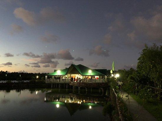 Northern Samar Province, Filippinerna: Fishville at night