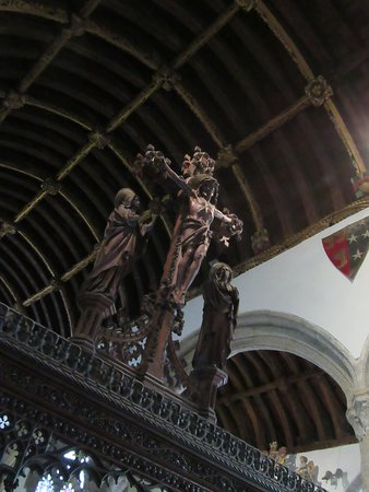 Kilkhampton, UK: Rood screen