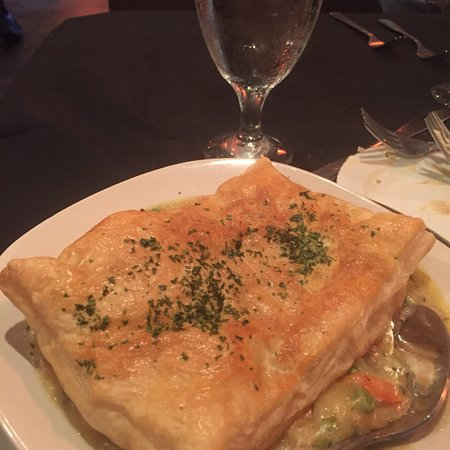 Sigler's Rotisserie & Seafood: Chicken pot pie with puff pastry