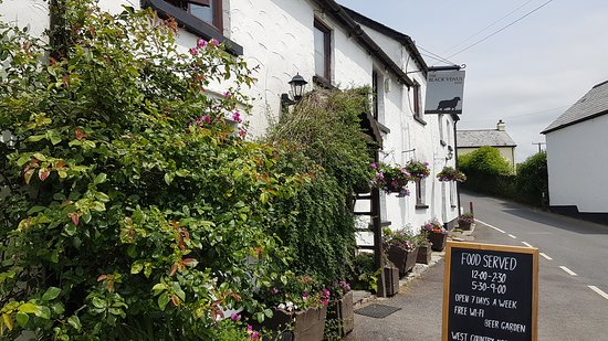 Challacombe, UK: Lunch Menu at the Black Venus Inn