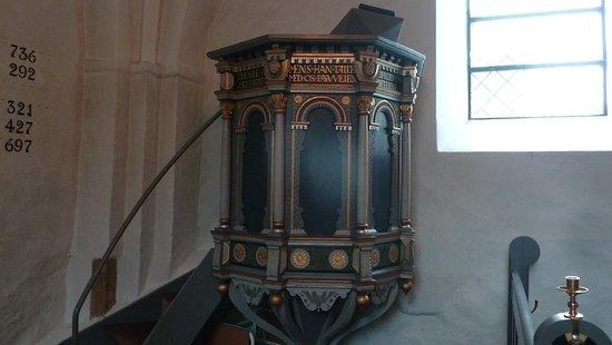 Sdr. Aarslev Kirke: prædikestol