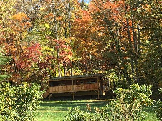 Lovey dovey hot tub kuva cabins of asheville candler for Tripadvisor asheville nc cabins