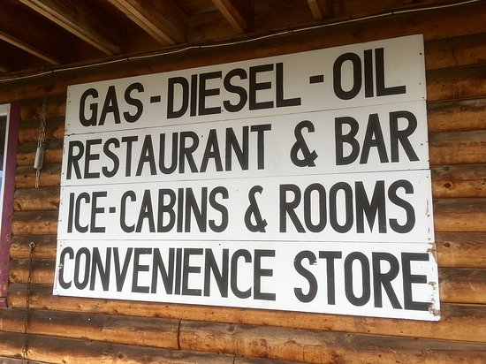 Gakona, AK: Sign out Front